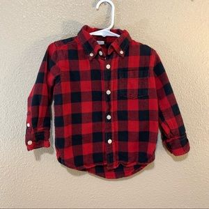 Baby Gap buffalo plaid flannel 2T